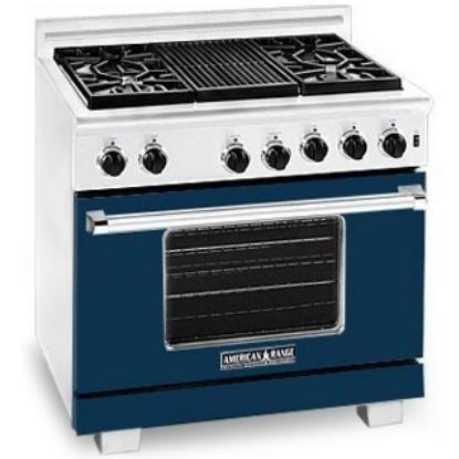 American Range Dark Blue Range Color Kit 36 Inch With Glass - COLOR KIT ONLY