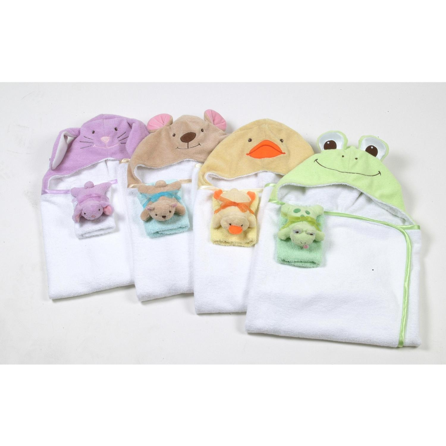 Animal Hooded Towel - Frog