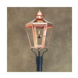 Legendary Lighting Apollo 1 Copper Propane Gas Light With Post Bracket