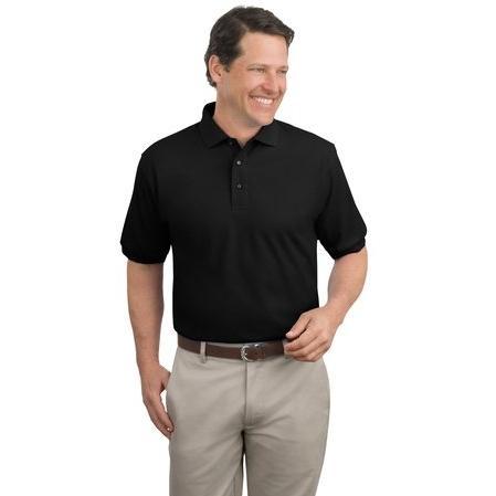 Port Authority Silk Touch Polo Shirt 2XL - Black