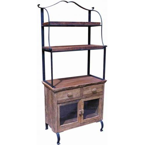 Groovy Stuff Teak Wood Bakers Rack & Cabinet - TF-334