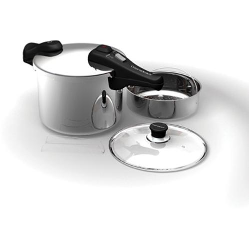 Chefs Design Stainless Steel Pressure Cooker - 7.25 Deep