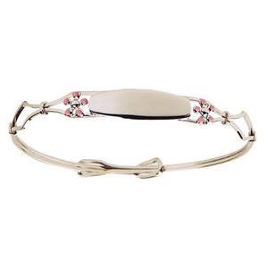 Elegant Baby Infant Sterling Silver Flower Bangle Bracelet