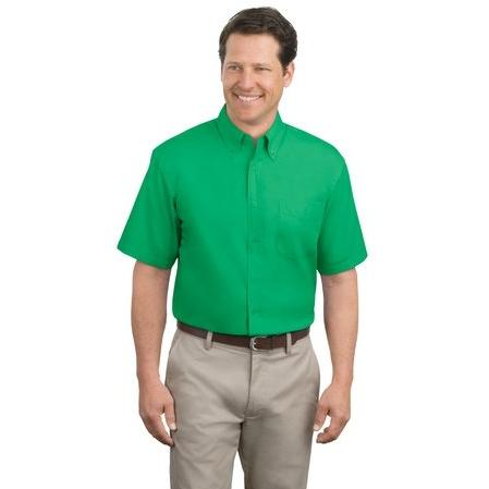 Port Authority Short Sleeve Easy Care Shirt Large - Court Green