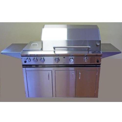 ProFire Professional Series 48 Inch Natural Gas Grill With Rotisserie And Double Side Burner - On Cart 2542084