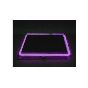 Neon Concepts 15 Inch Square Clear Top Serving Tray (Purple Neon / Disposable Battery)