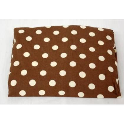 My Baby Sam Crib Sheet - Big Brown Dot