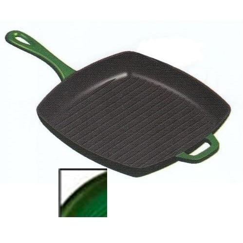 Lodge Pans Emerald Cast Iron Enamel Grill Pan, Gradated Green - ECSGP53