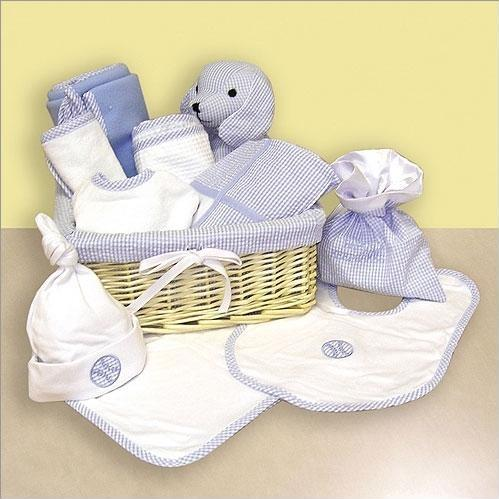 Trend Lab 12 Piece Deluxe Gift Basket Blue.