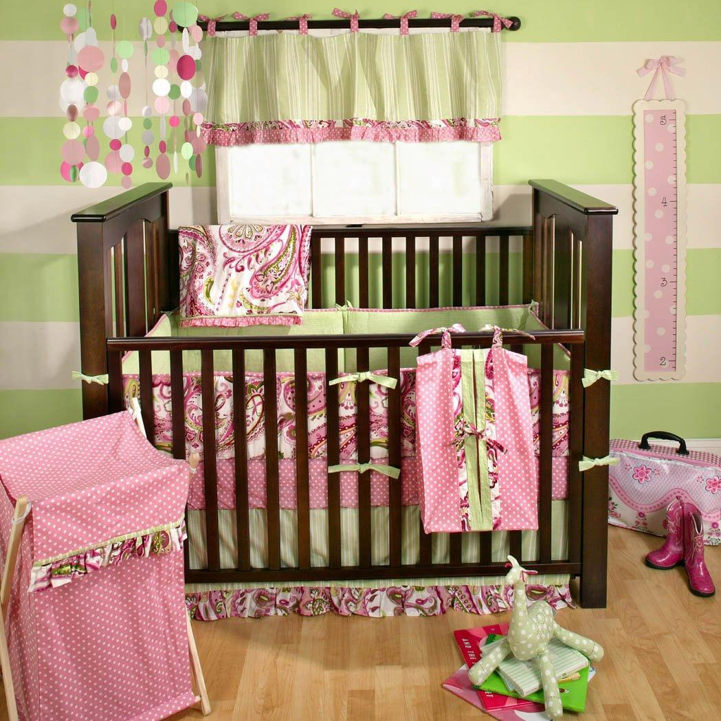 My Baby Sam 4-Piece Crib Bedding Set - Pink Paisley Splash