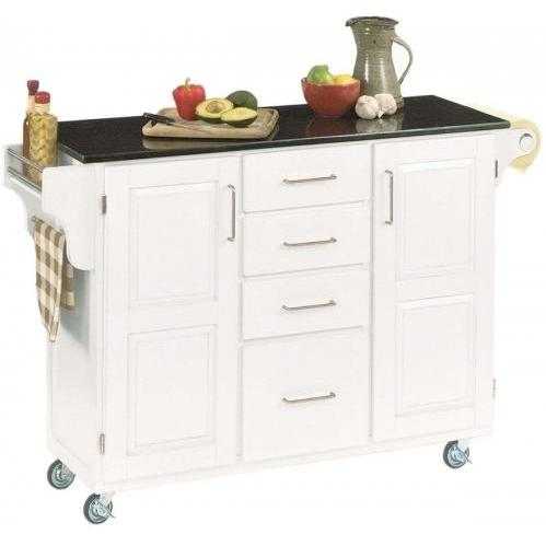 Home Styles Large Kitchen Cart With Granite Top - Black/White - 9100-1024