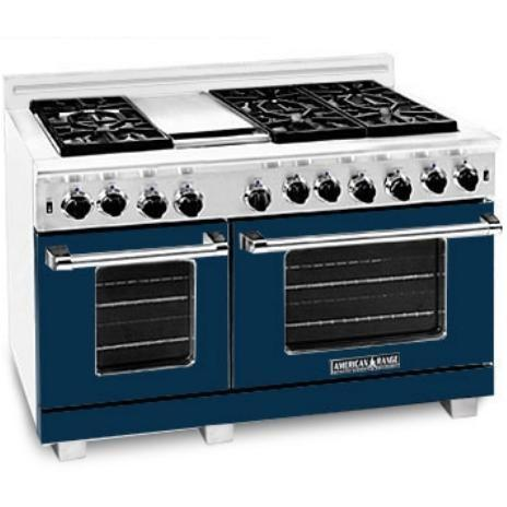 American Range Dark Blue Range Color Kit 48 Inch With Glass - COLOR KIT ONLY