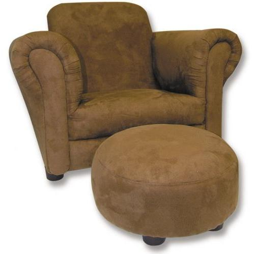Trend Lab Childs Stuffed Chair And Ottoman - Brown Ultrasuede
