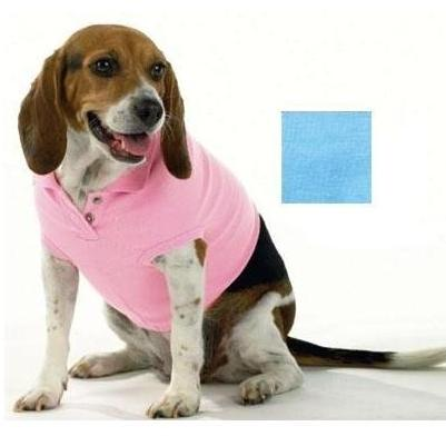 Doggie Skins Polo Shirt Medium - Light Blue