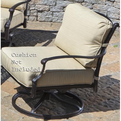 Alfresco Home Farfalla Deep Seating Swivel Rocker Frame - Antique Wine (Set Of 2)
