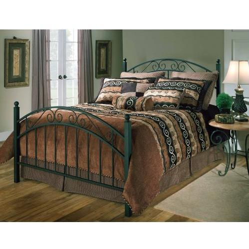 Hillsdale Willow Textured Black Metal Bed Set With Frame - Queen - 1141BQR