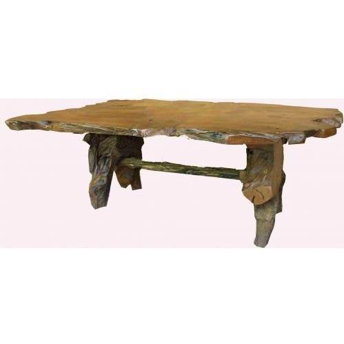 Picture of Groovy Stuff Teak Wood Stump Dinner Table - Rectangle - TF-852