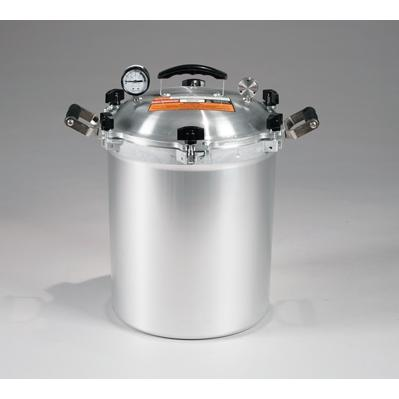 Chefs Design Cast Aluminum All-American Cooker/Canner With Two Racks - 30 Qt. Liquid Capacity