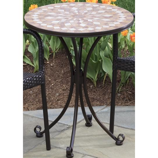 Alfresco Home Cilento 24 Inch Round Bistro (Top & Base)