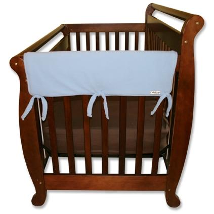 Trend Lab Wide 2-Piece Crib Rail Guard 27 Inch - Blue Fleece