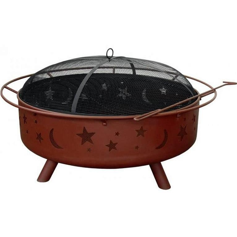 Landmann Super Sky Stars And Moons Fire Pit With Georgia Clay Finish