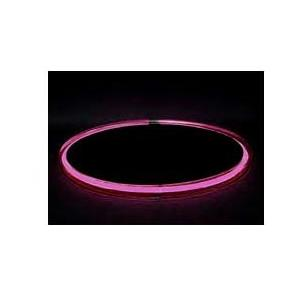 Neon Concepts 15 Inch Round Clear Top Serving Tray (Pink Neon / Disposable Battery)
