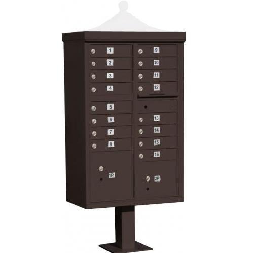 Regency F-Series 16-Door Cluster Box Unit - Bronze