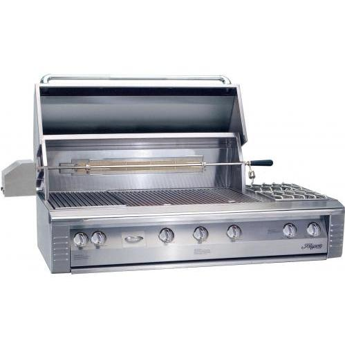 Alfresco AGBQ Classic 56 Inch Natural Gas Grill Built In With Sear Zone, Rotisserie, And Side Burner