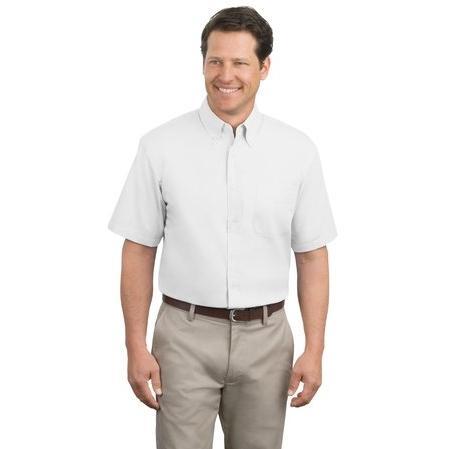 Port Authority Short Sleeve Easy Care Shirt XL - White/Light Stone