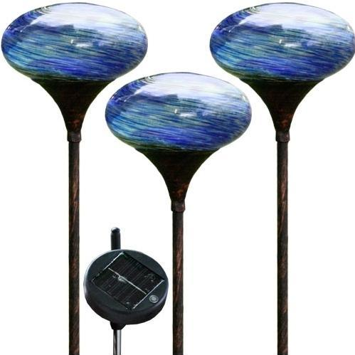 Alpine Solar Stake With 6 Inch Diameter Blue Glass Ball