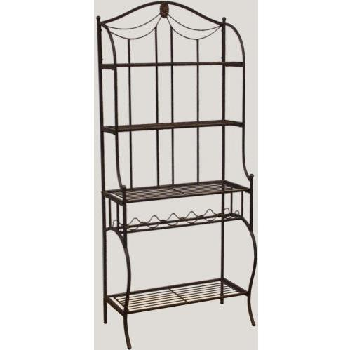 Hillsdale Camelot Bakers Rack - Black/gold - 41417