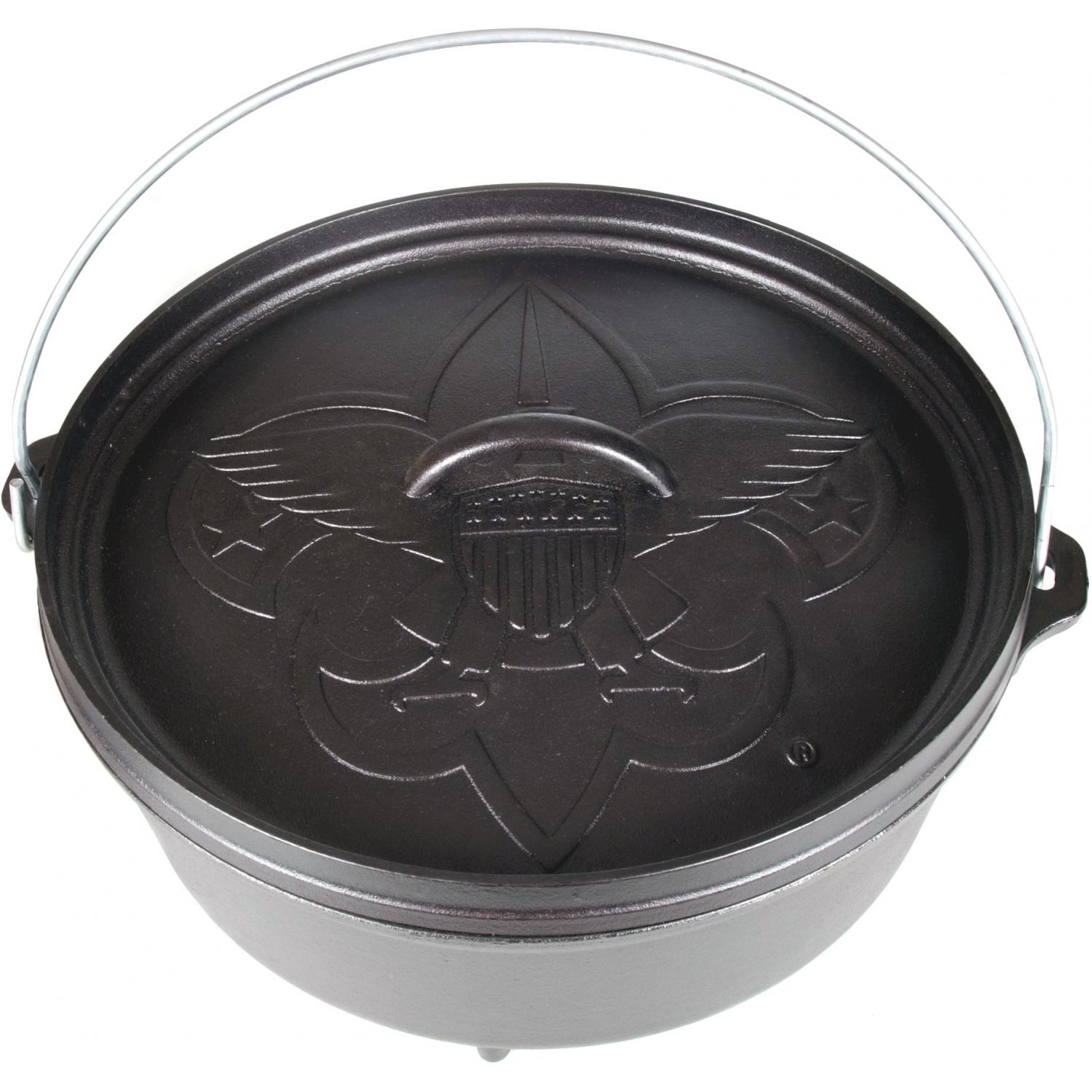 Lodge Dutch Ovens Camping Cast Iron Boy Scouts Of America Series Dutch Oven - L12CO3BS