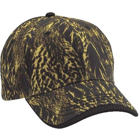 Cobra Caps Feather Flage Sandwich Bill Cap - Feather Flage/Black