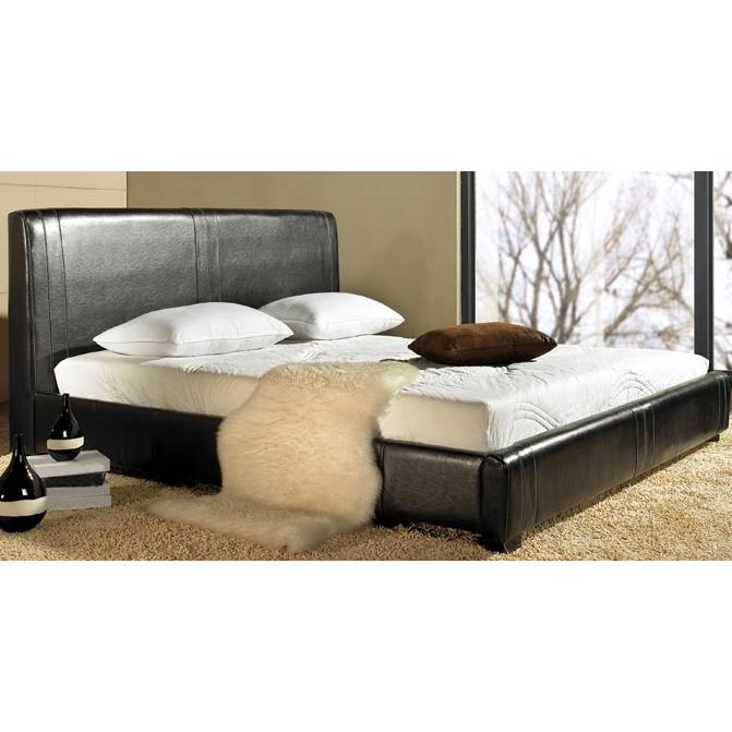 Picture of Abbyson Living Connor Leather Queen Bed Espresso LI-HC001-QU