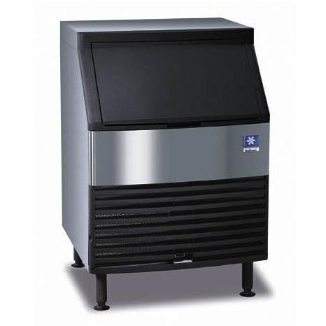 Manitowoc QD-0132A 90 Lb Capacity Compact Ice Machine - Black Door / Stainless Steel Cabinet