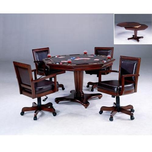 Hillsdale Ambassador 5 Piece Game Table & Chairs Set - Rich Cherry - 6124GTBC