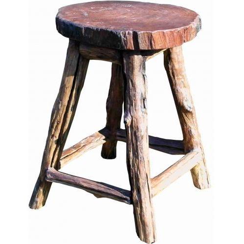 Groovy Stuff Teak Wood Garden Stool - 24 Inch - TF-308-24