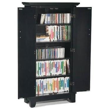 Home Styles Arts And Crafts Media Cabinet - Ebony - 5181-08