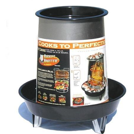 Landmann Porcelain And Aluminized Steel Rocket Roaster Poultry Roaster