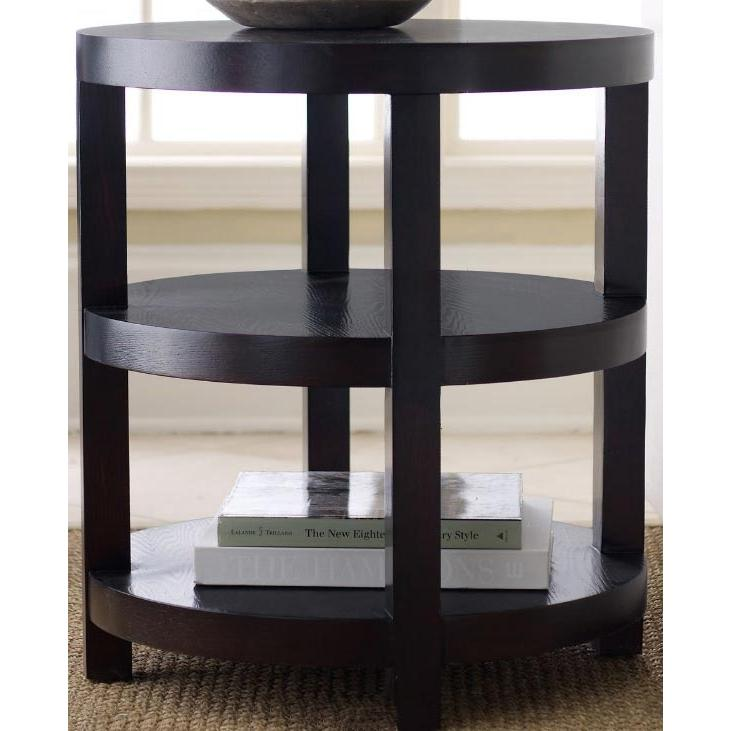 Abbyson Living Florence Round End Table Espresso FR-7000-0230