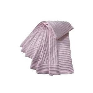 Elegant Baby Cable Knit Baby Blanket - Pastel Pink 2566282