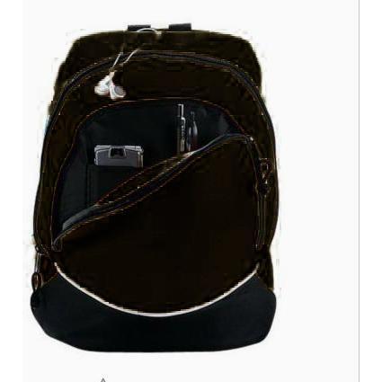 Augusta Tri-color Extra Large Backpack - Black