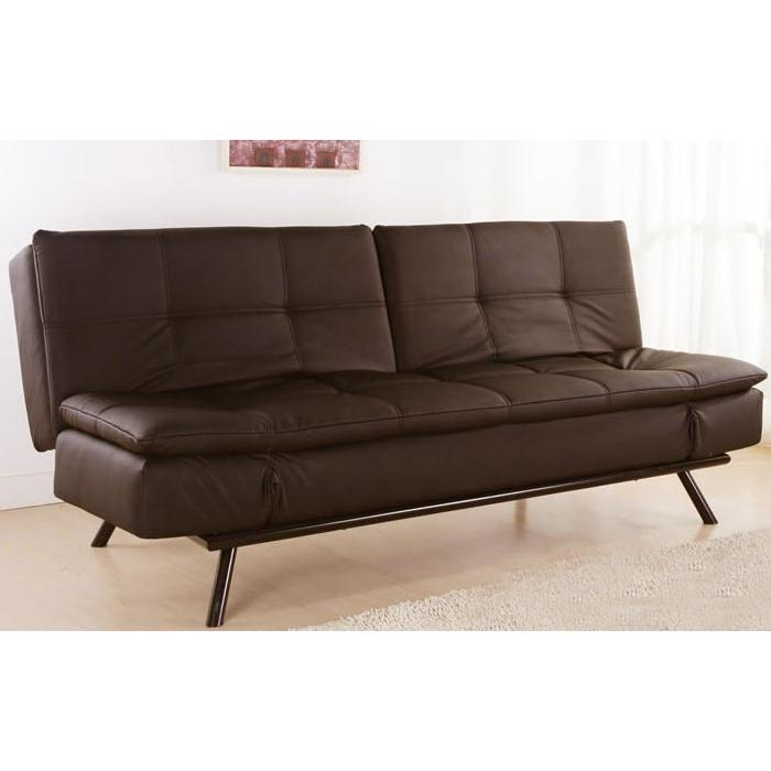 Picture of Abbyson Living Alpine Leather Convertible Sofa Dark Brown AD-100L-DB