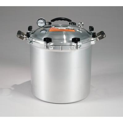 Chefs Design Cast Aluminum All-American Cooker/Canner With Two Racks - 41.5 Qt. Liquid Capacity