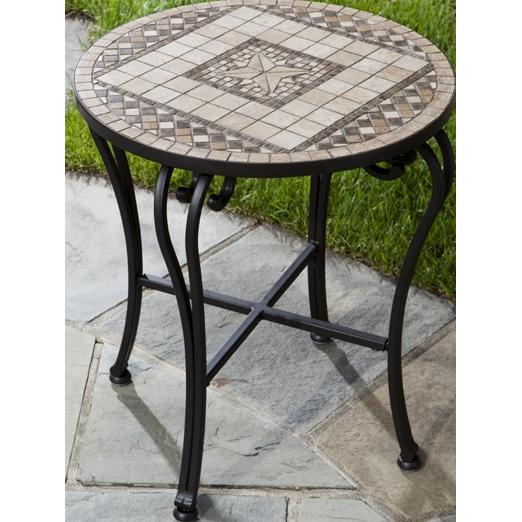 Alfresco Home Basilica 20 Inch Round Side Table & Base