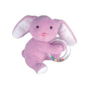 Ruby Rabbit Plush Ring Rattle