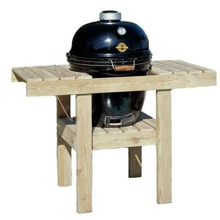 Grill Dome 48 X 24 Inch T-shaped Wood Table