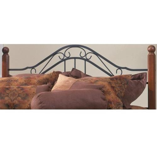 Hillsdale Madison Textured Black And Cherry Metal And Wood Post Headboard Without Frame - Full/Queen - 1010HFQ