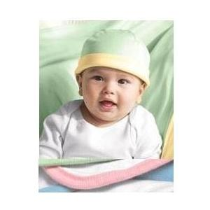 Bella Baby 1x1 Rib Infant Reversible Beanie - Pink/White