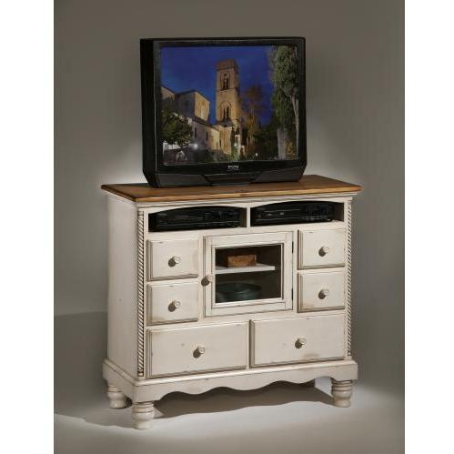 """Hillsdale TV Stand - 42"""" Height x 45"""" Width x 20"""" Depth - White"""